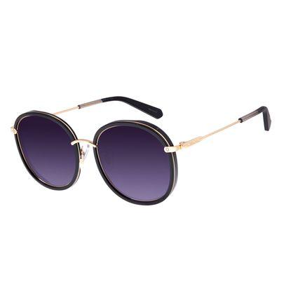 Óculos de Sol Feminino Chilli Beans Alok Transparent Line Redondo Preto OC.CL.2960-2001