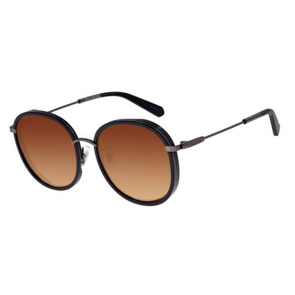 Óculos de Sol Feminino Chilli Beans Alok Transparent Line Redondo Degradê OC.CL.2960-2030