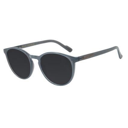Óculos de Sol Unissex Alok Transparent Line Redondo Cinza OC.CL.2961-0104