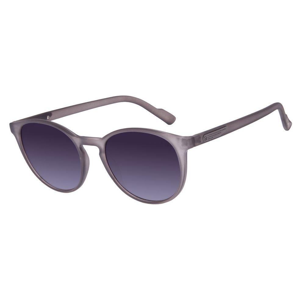 Óculos de Sol Unissex Alok Transparent Line Redondo Cinza Escuro OC.CL.2961-2028