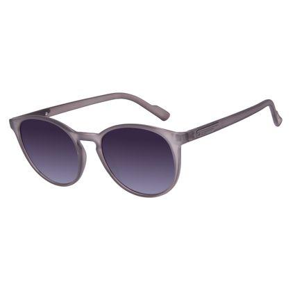 Óculos de Sol Unissex Alok Dia dos Namorados Transparent Line Cinza Escuro OC.CL.2961-2028