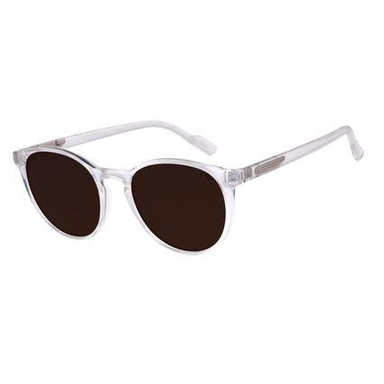 Óculos de Sol Unissex Alok Transparent Line Redondo Transparente OC.CL.2961-0336
