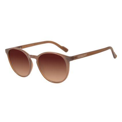 Óculos de Sol Feminino Chilli Beans Alok Transparent Line Redondo Marrom OC.CL.2961-2002