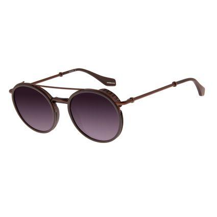 Óculos de Sol Unissex Chilli Beans Alok Double Bridge Marrom OC.CL.2964-2002