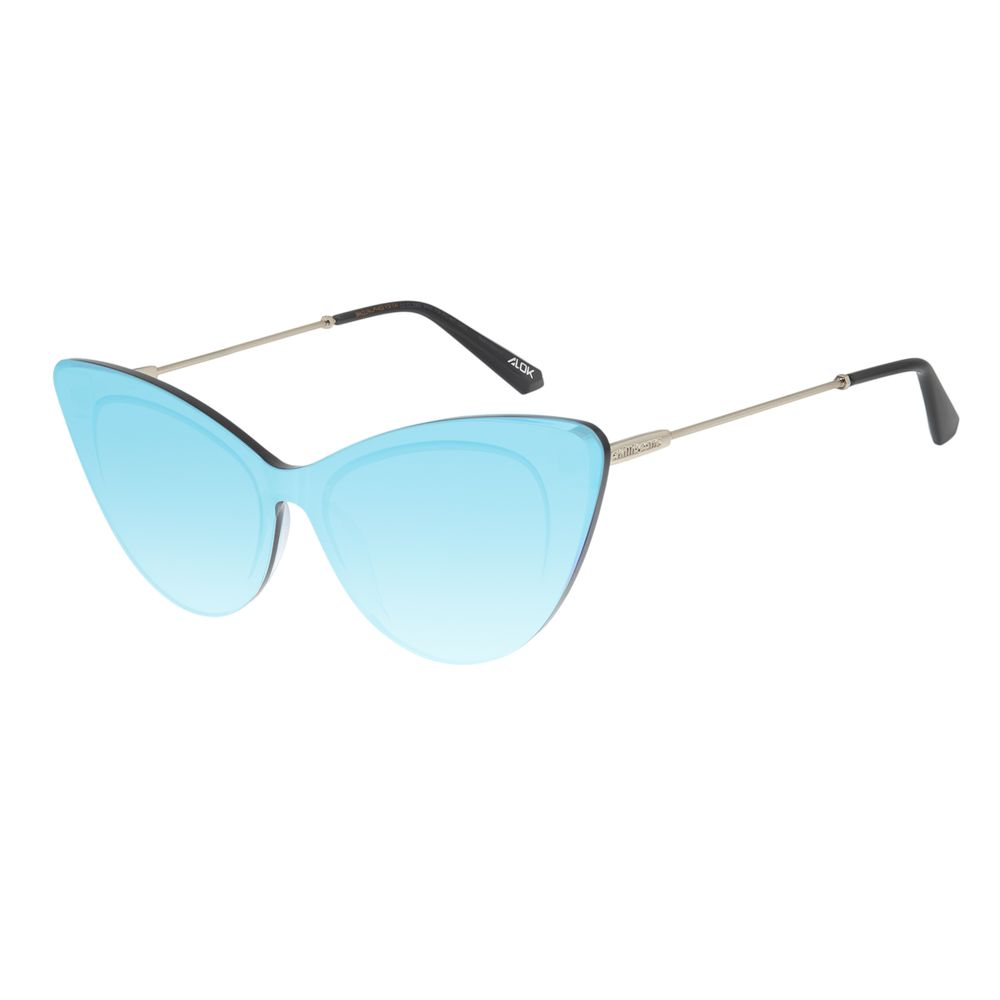 Óculos de Sol Feminino Chilli Beans Alok Block.Tech Azul Espelhado OC.CL.2983-9107