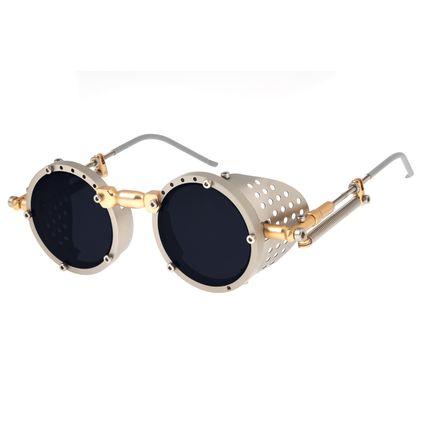 Óculos de Sol Unissex Alok Icônico Steampunk Prata OC.MT.2803-0507