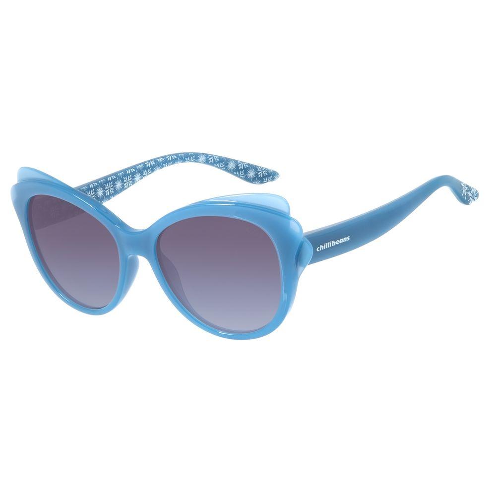 Óculos de Sol Infantil Fronzen ll Chilli Beans Hipoalergênico Azul OC.KD.0630-8308