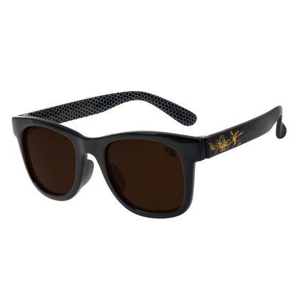 Óculos de Sol Infantil Spider-Man Chilli Beans Quadrado Preto OC.KD.0638-0201