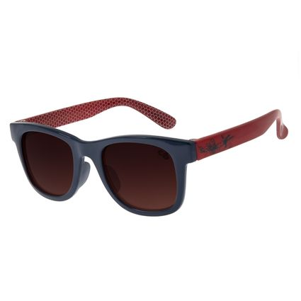 Óculos de Sol Infantil Spider-Man Chilli Beans Quadrado Azul OC.KD.0638-5708