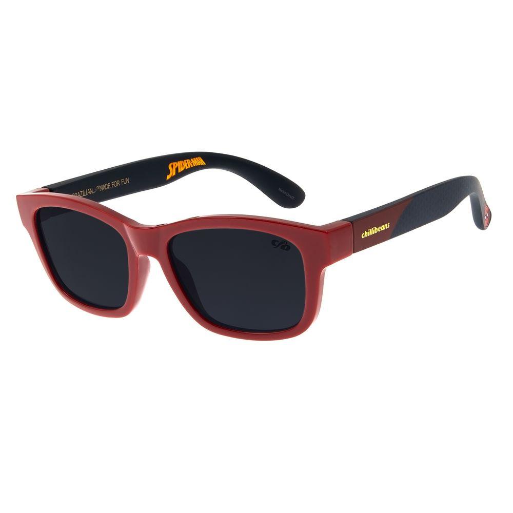 Óculos de Sol Infantil Spider-Man Chilli Beans Bossa Nova Vermelho OC.KD.0632-0116