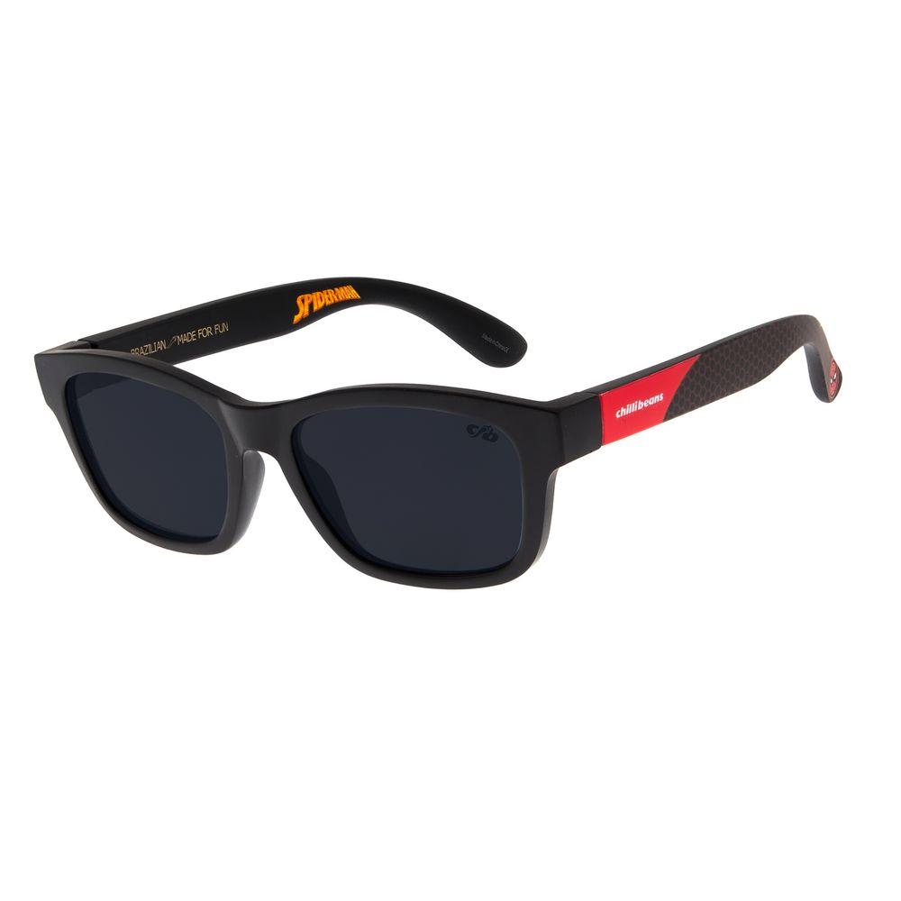 Óculos de Sol Infantil Spider-Man Chilli Beans Bossa Nova Preto OC.KD.0632-0101