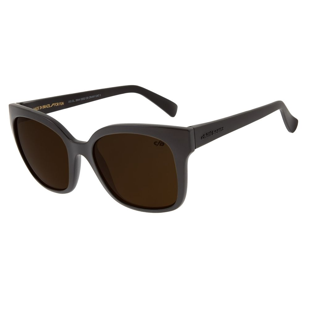 Óculos de Sol Feminino Chilli Beans Quadrado Classic Marrom OC.CL.2644-0202