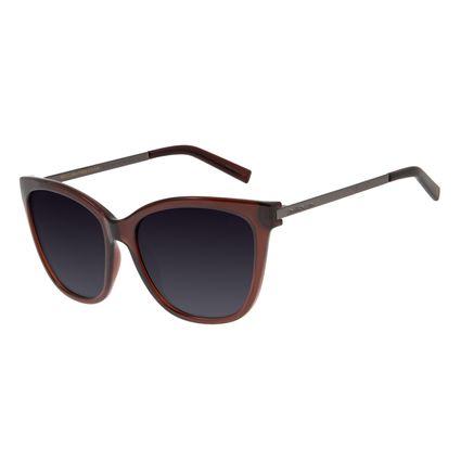 Óculos de Sol Feminino Chilli Beans Quadrado Polarizado Vinho OC.CL.2932-2017