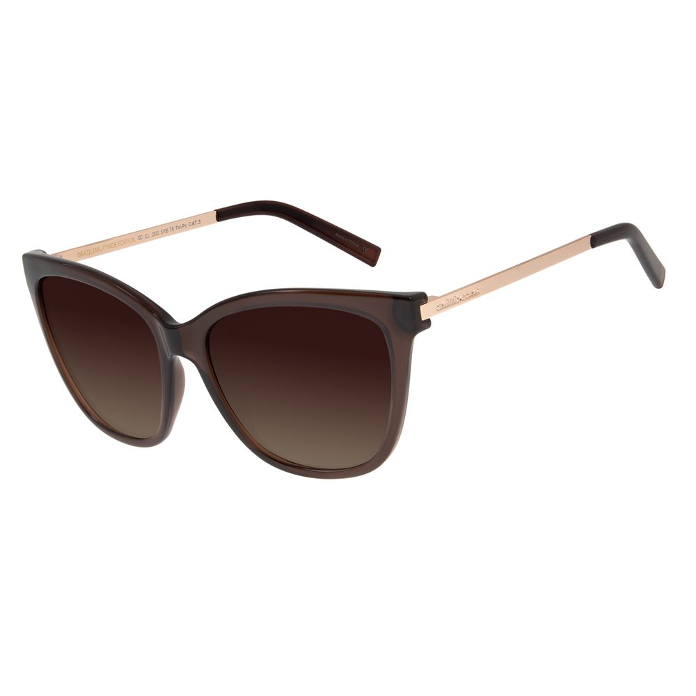 Óculos de Sol Feminino Chilli Beans Quadrado Polarizado Tartaruga OC.CL.2932-5706