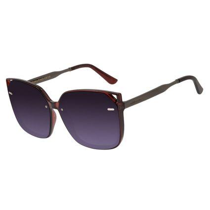 Óculos de Sol Feminino Chilli Beans Quadrado Vinho OC.CL.2942-2017