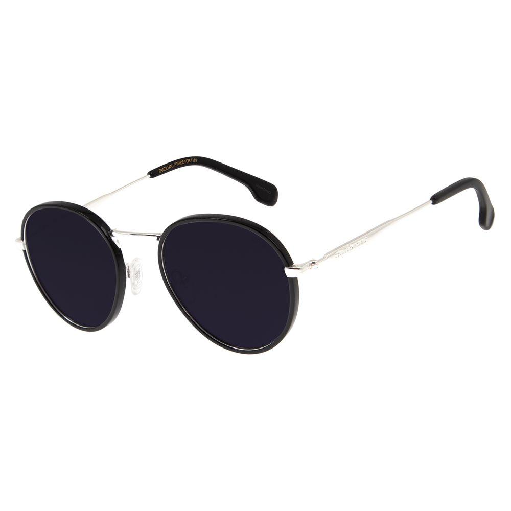 Óculos de Sol Feminino Chilli Beans Redondo Metal Prata OC.MT.2774-0107