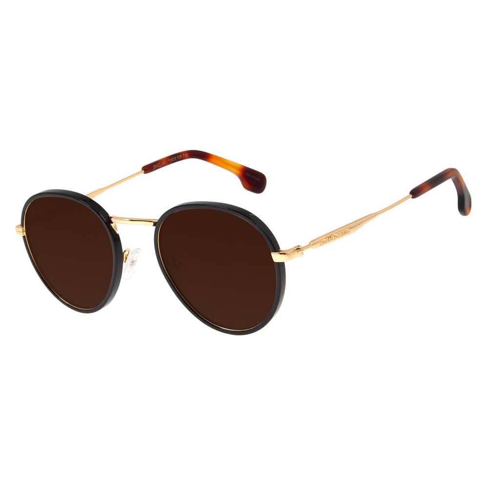 Óculos De Sol Feminino Chilli Beans Redondo Metal Dourado OC.MT.2774-0221