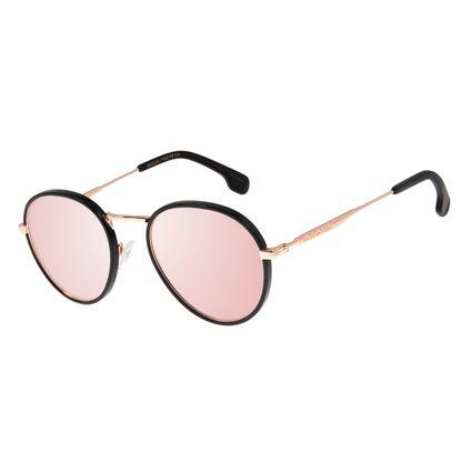Óculos de Sol Feminino Chilli Beans Redondo Metal Rosê OC.MT.2774-9595