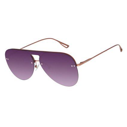 Óculos de Sol Unissex Chilli Beans Aviador Rosê OC.MT.2780-2095