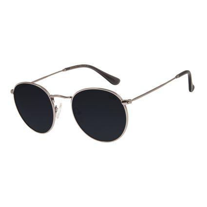 Óculos de Sol Unissex Chilli Beans Redondo Ônix OC.MT.2795-0122