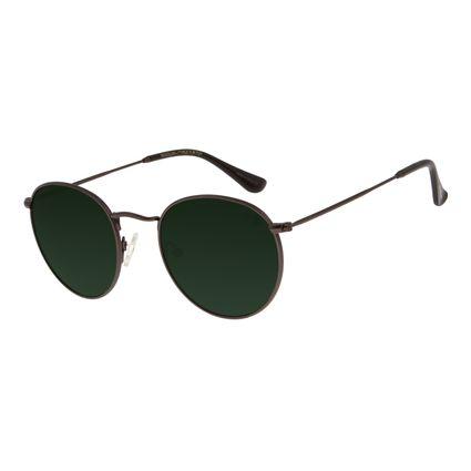 Óculos de Sol Unissex Chilli Beans Redondo Verde OC.MT.2795-1502