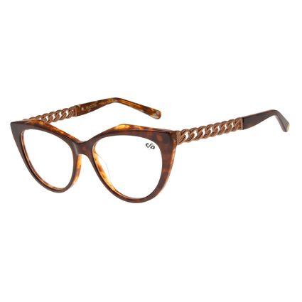 Armação para Óculos de Grau Feminino Chilli Beans Gatinho Chains Marrom LV.AC.0503-0202