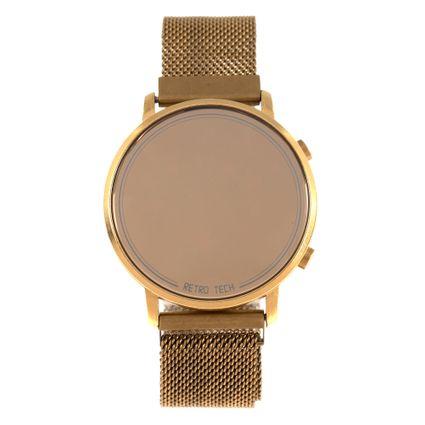 Relógio Digital Feminino Chilli Beans Retro Tech Dourado RE.MT.0957-2121