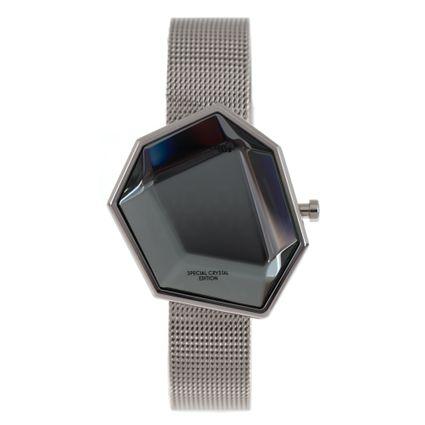 Relógio Digital Feminino Chilli Beans Crystal Assimétrico Prata RE.MT.0974-0707