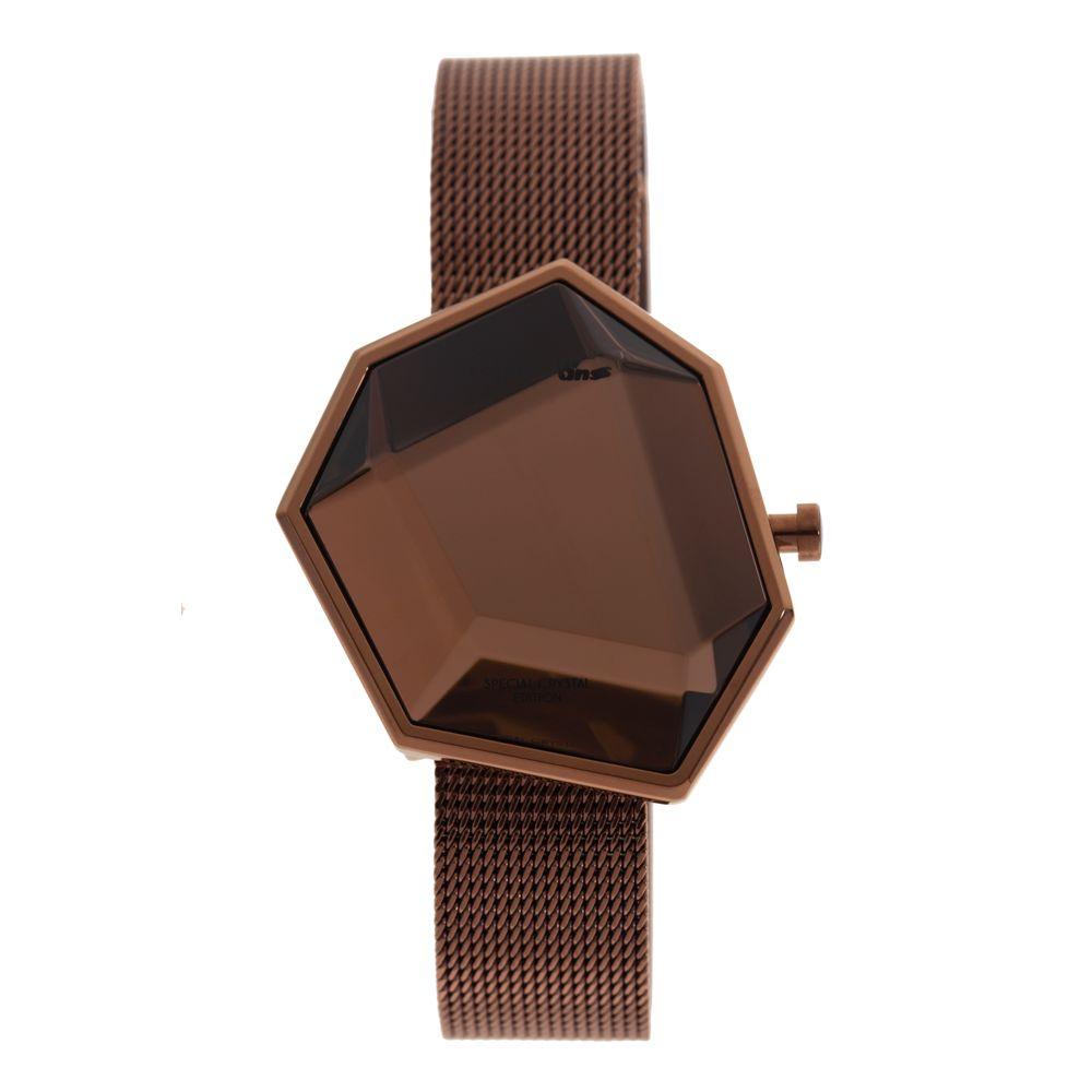 Relógio Digital Feminino Chilli Beans Crystal Assimétrico Marrom RE.MT.0974-0202