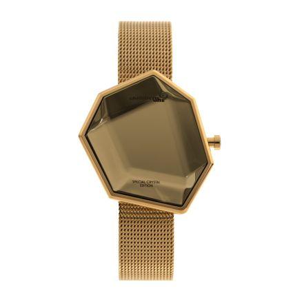 Relógio Digital Feminino Chilli Beans Crystal Assimétrico Dourado RE.MT.0974-2121