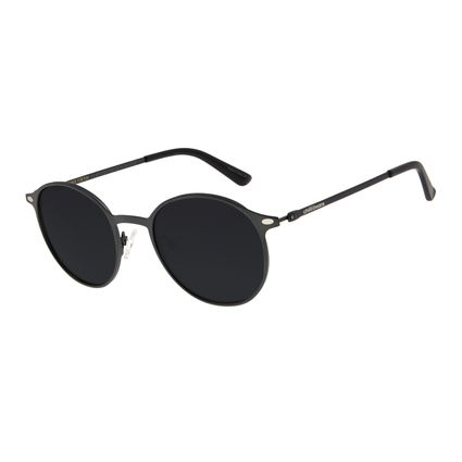 Óculos de Sol Unissex Chilli Beans Redondo Verde Escuro Polarizado OC.MT.2739-0126