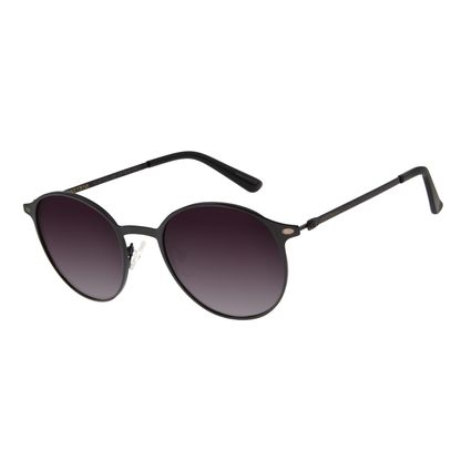 Óculos de Sol Unissex Chilli Beans Redondo Preto Polarizado OC.MT.2739-2001