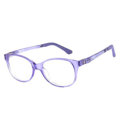 Armação Para Óculos De Grau Infantil Frozen II Olaf Roxo Flexível LV.IJ.0159-1414