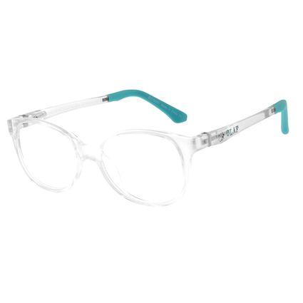 Armação Para Óculos De Grau Infantil Frozen II Olaf Transparente Flexível LV.IJ.0159-3636