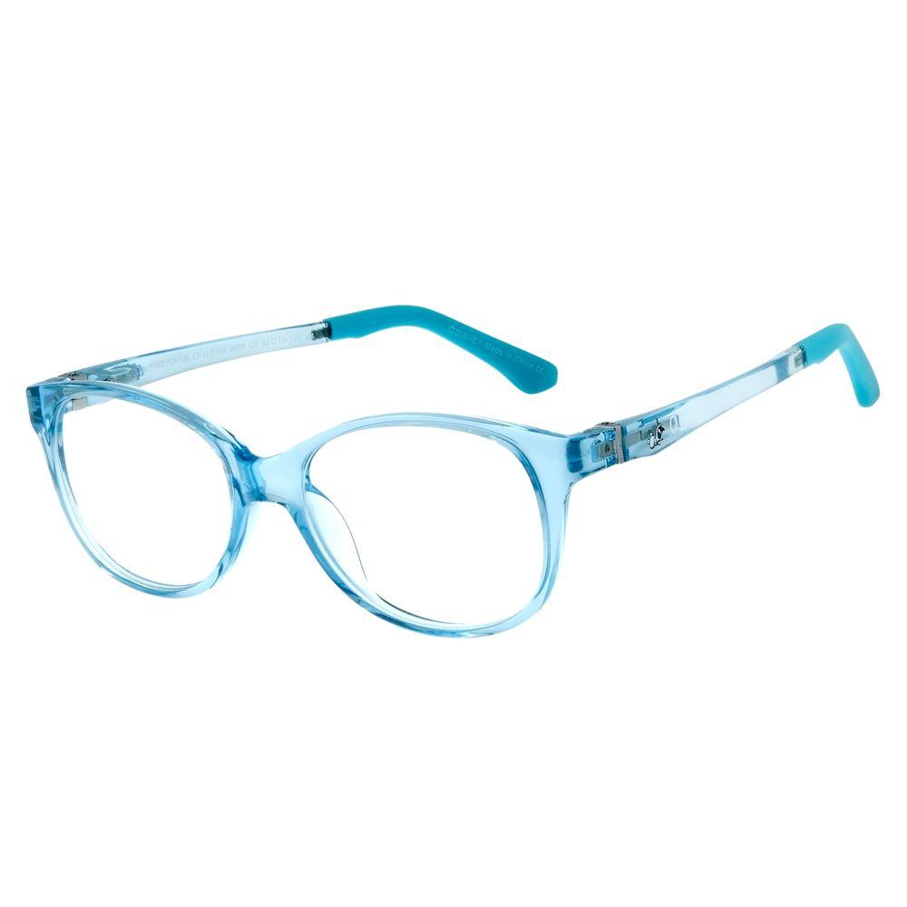 Armação Para Óculos De Grau Infantil Frozen II Olaf Azul Flexível LV.IJ.0159-0808