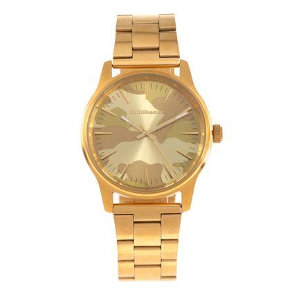 Relógio Analógico Masculino Chilli Beans Camuflado Dourado RE.MT.0837-2121
