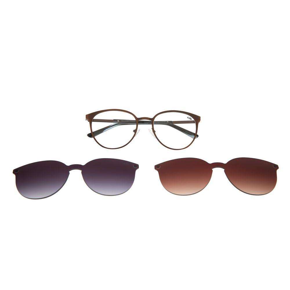 Armação Para Óculos De Grau Feminino Multi 2 em 1 Cobre LV.MU.0271-3965
