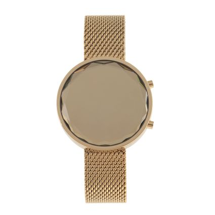 Relógio Digital Feminino Chilli Beans Metal Dourado RE.MT.0867-2121