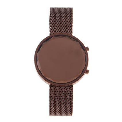 Relógio Digital Feminino Chilli Beans Metal Marrom RE.MT.0867-0202
