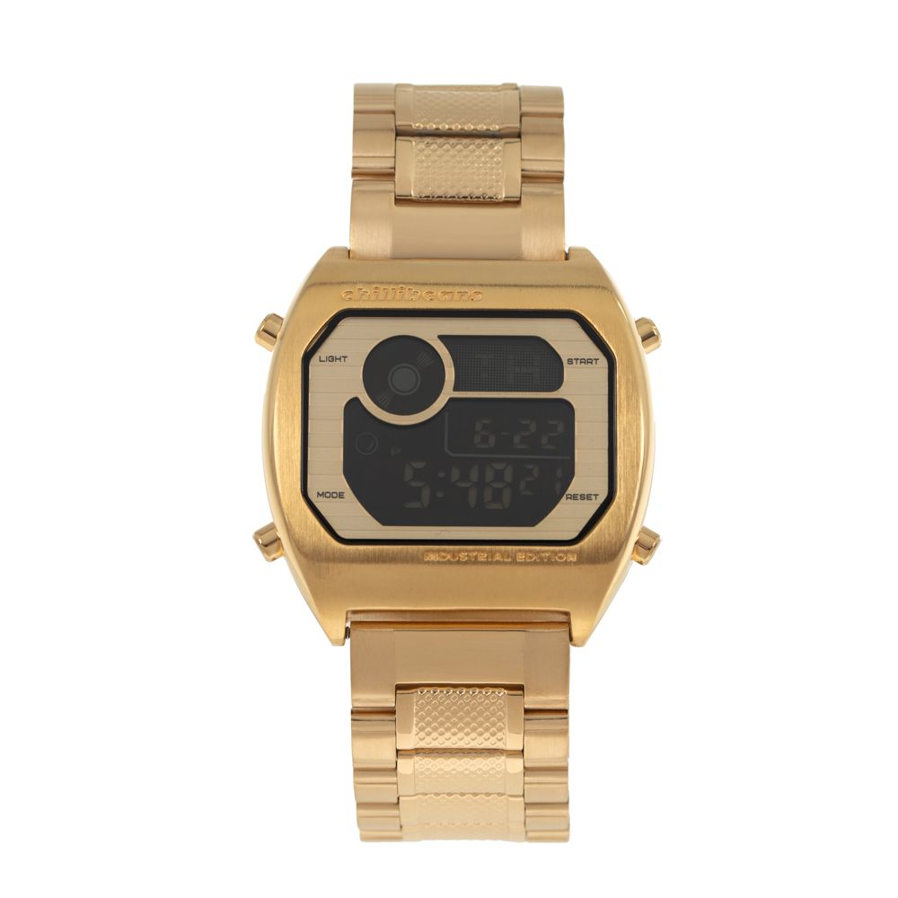 Relógio Digital Masculino Chilli Beans Industrial Edition Dourado RE.MT.0947-2121