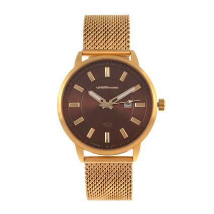 Relógio Analógico Masculino Chilli Beans Metal Don't Be Late Dourado RE.MT.0964-0221