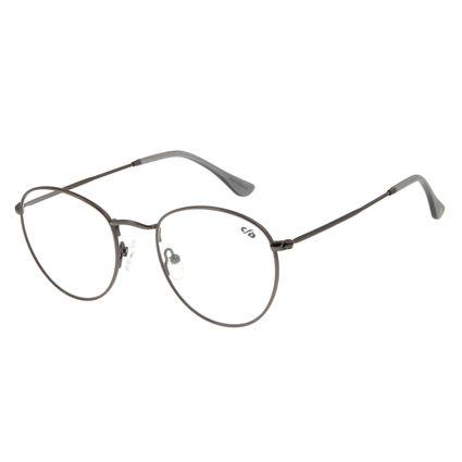 Armação Para Óculos De Grau Unissex Chilli Beans Redondo Cinza LV.MT.0304-2804