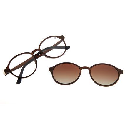 Armação Para Óculos De Grau Feminino Chilli Beans Multi Marrom Claro LV.MU.0072-2088