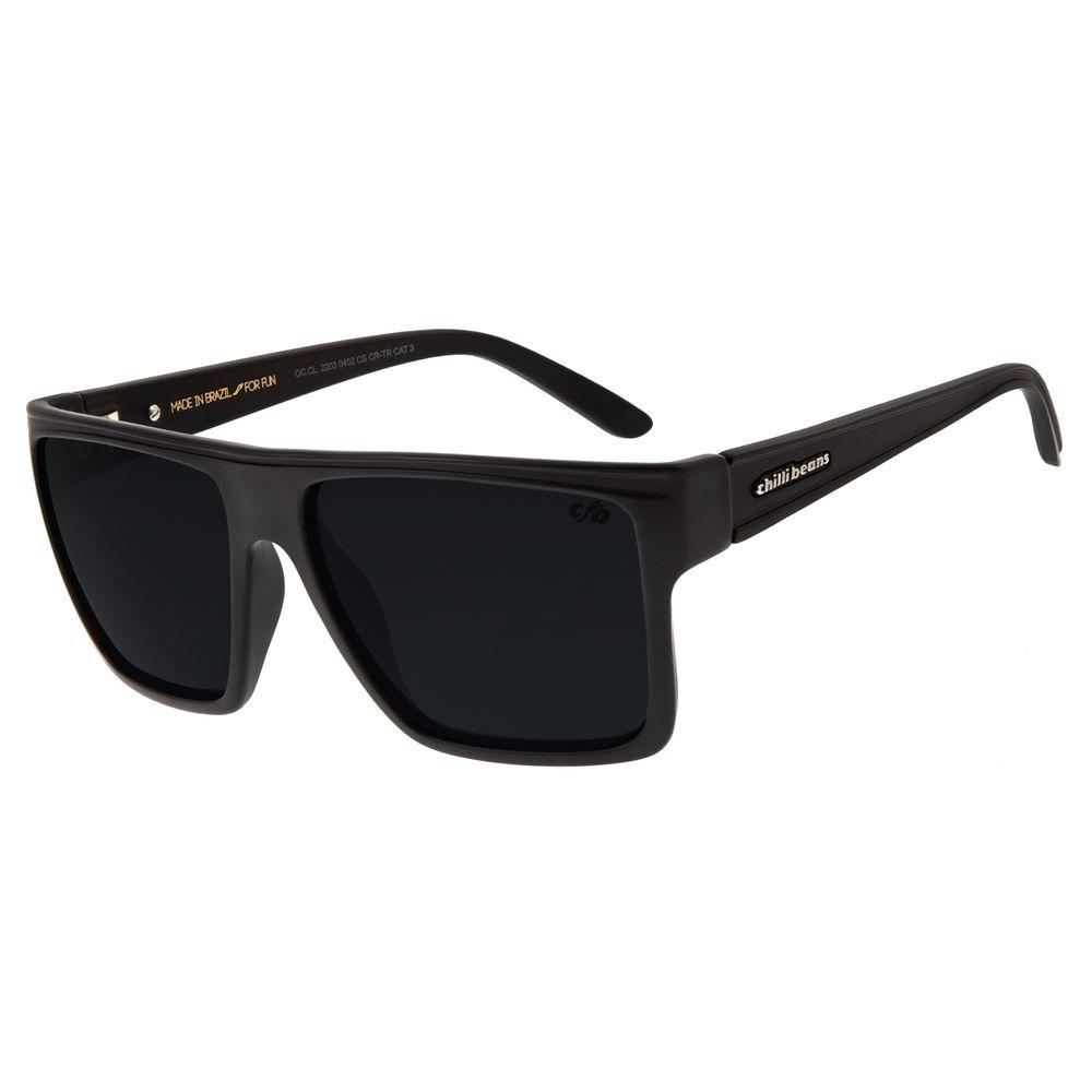 Óculos de Sol Unissex Chilli Beans Quadrado Marrom Polarizado OC.CL.2203-0402