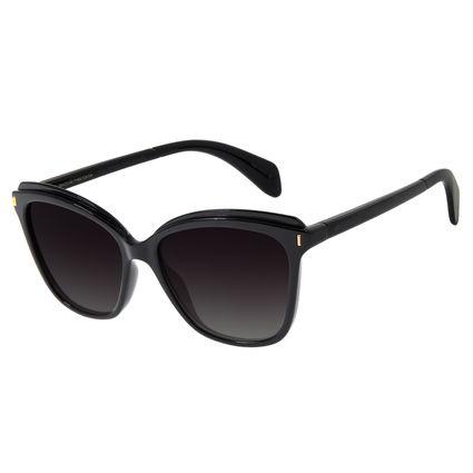 Óculos de Sol Feminino Chilli Beans Redondo Preto Polarizado OC.CL.2850-2001