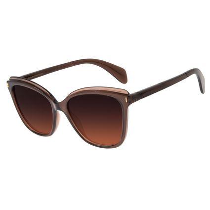 Óculos de Sol Feminino Chilli Beans Redondo Marrom Polarizado OC.CL.2850-2002