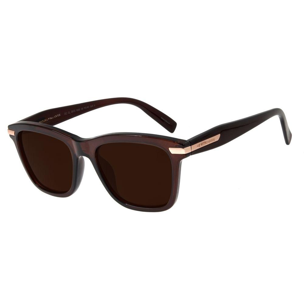 Óculos de Sol Feminino Chilli Beans Quadrado Metallic Marrom OC.CL.2913-0202