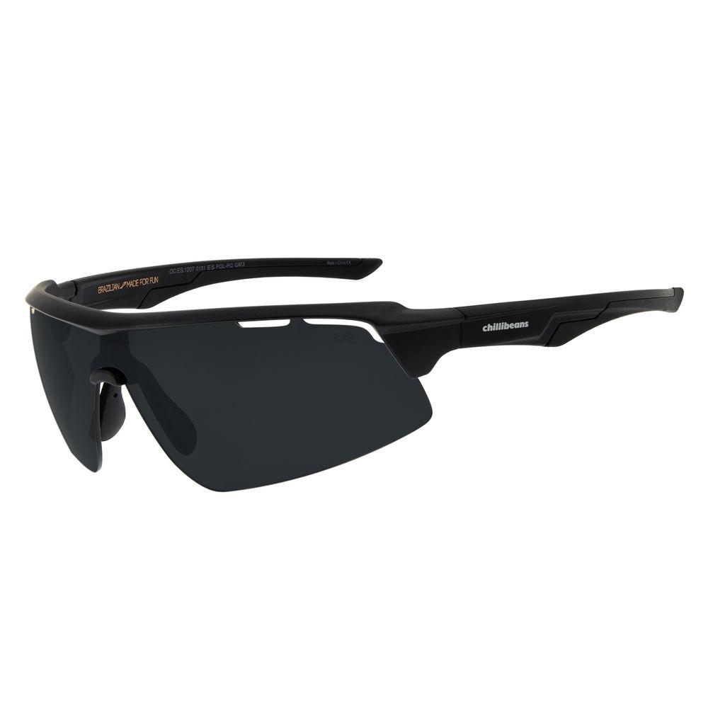 Óculos de Sol Masculino Chilli Beans Esportivo Fosco Polarizado OC.ES.1207-0131