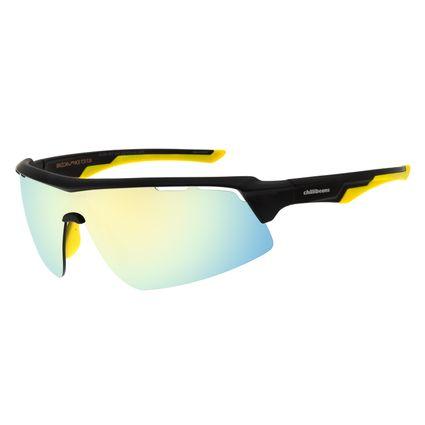 Óculos de Sol Masculino Chilli Beans Esportivo Dourado Polarizado OC.ES.1207-2101