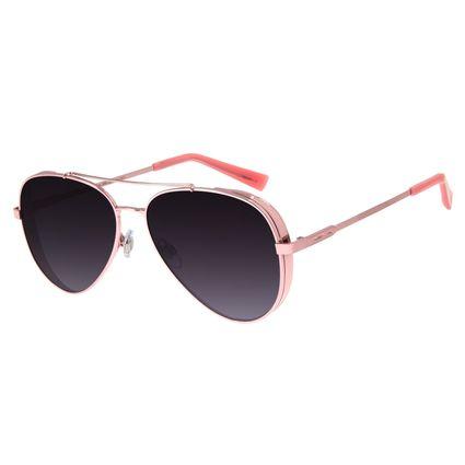 Óculos de Sol Unissex Chilli Beans Aviador Flap Rosê Polarizado OC.MT.2429-2095